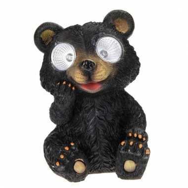 Tuinbeeldje beer led oogjes c m kopen