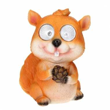 Tuinbeeldje eekhoorn led oogjes c m kopen