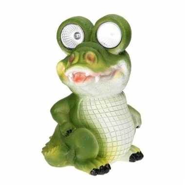 Tuinbeeldje krokodil led oogjes c m kopen