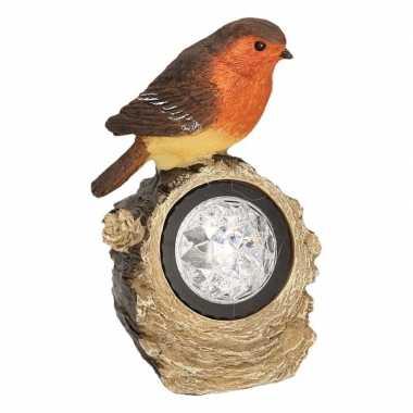 Vogels solar verlichting beeldje kopen