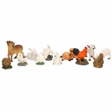 X decoratie beeldjes boerderijdieren dierenbeeldjes kopen