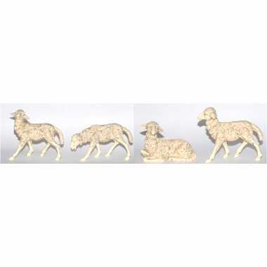 X kerststal beeldjes witte schapen dierenbeeldjes kopen