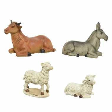 X sets kerststal dieren steen stuks beeldje kopen