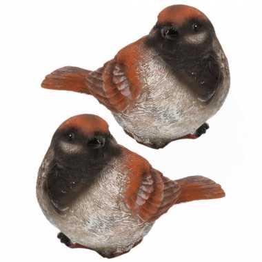 X stuks huismus vogel beeldje woondecoratie kopen