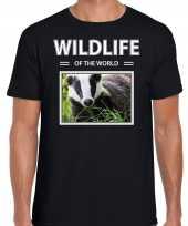 Das t-shirt dieren foto wildlife of the world zwart heren beeldje kopen