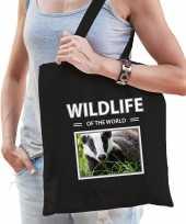 Das tasje zwart volwassenen kinderen wildlife of the world kado boodschappen tas beeldje kopen