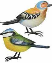 Decoratie vogels muurvogels vink pimpelmees tuin beeldje kopen