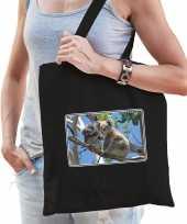Dieren tas katoen koalaberen foto zwart volwassenen beeldje kopen