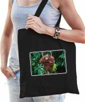 Dieren tas katoen orang oetan apen foto zwart volwassenen beeldje kopen