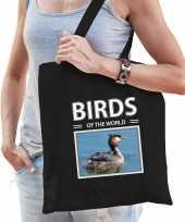 Fuut vogel tasje zwart volwassenen kinderen birds of the world kado boodschappen tas beeldje kopen