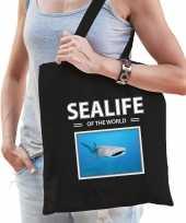 Haaien tasje zwart volwassenen kinderen sealife of the world kado boodschappen tas beeldje kopen