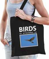 Havik vogel tasje zwart volwassenen kinderen birds of the world kado boodschappen tas beeldje kopen