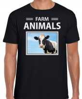 Koeien t-shirt dieren foto farm animals zwart heren beeldje kopen