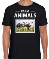Kudde koeien t-shirt dieren foto farm animals zwart heren beeldje kopen