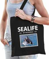 Orkas tasje zwart volwassenen kinderen sealife of the world kado boodschappen tas beeldje kopen 10265509