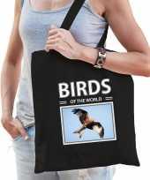 Rode wouw tasje zwart volwassenen kinderen birds of the world kado boodschappen tas beeldje kopen