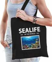 Vissen tasje zwart volwassenen kinderen sealife of the world kado boodschappen tas beeldje kopen