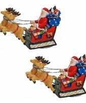 X stuks polystone kerstman beeldjes kopen