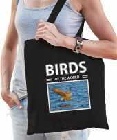 Zeearend roofvogel tasje zwart volwassenen kinderen birds of the world kado boodschappen tas beeldje kopen